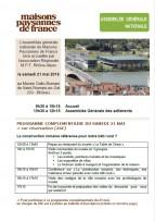 Assemblée Générale Maisons Paysannes de France - 21 mai 2016